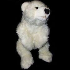 Large 71cm Polar Bear Soft Toy by Dowman - Plush Cuddly Stuffed Teddy Bear