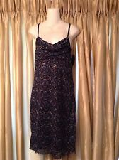 Navy Blue Dress W/Sparkle My Michelle Made in USA Size M NWT So cute! Shipsfree