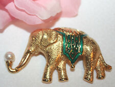 LOVELY LARGE TRIFARI SIGNED ELEPHANT PIN STUNNING AND EXCELLENT!!!!