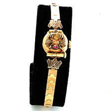 Ladies Covered Dial Bumble Bee Design White Star Wrist Watch CA1950s