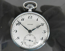 100% Authentic SEIKO EMPIRE Hand Winding Pocket Watch SKS Open Face Vintage