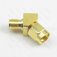 45 degree SMA female to RP-SMA male Connector and 135 degree angle Adapter new