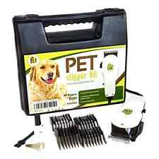 Professional Dog Cat Grooming Clippers Kit Pet Electric Hair Trimmer Comb Cutter