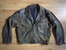 Vintage Distressed Leather Biker/Motorcycle Jacket D pocket