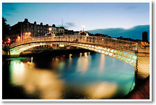 Ha'penny Bridge Dublin, Ireland - Travel Vacation Gift Print - NEW POSTER