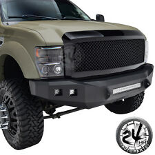 08-10 Ford Super Duty ABS Black Mesh Packaged Replacement Grill Grille W/Shell
