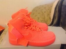 Nike Air Force 1 Hi Prm Premium Basketball Shoe Trainer Hot Lava Womens Size 10