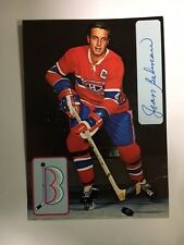 Jean Beliveau Signed Hockey Card HOFer Montreal Canadiens with COA