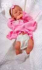 Full body solid Ecoflex 20 silicone preemie baby girl Joy #3 drinks and wet