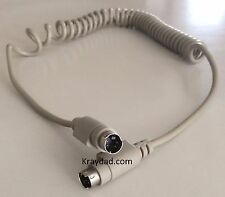 Apple ADB Mac Macintosh Coiled Keyboard Cable 4 pin MM