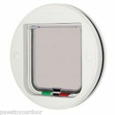 Cat Mate de 4 vías bloqueo gatera Vidrio de montaje Blanco Catflap Pet Door 210w