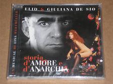 ELIO & GIULIANA DE SIO - STORIA D'AMORE E D'ANARCHIA - CD SIGILLATO (SEALED)