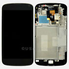 New LG Google Nexus 4 E960 LCD Touch Digitizer Screen Assembly Housing Frame OEM