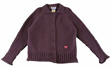 JACADI Girl's Solo Purple Cardigan with Embroidered Heart Age: 2 Years NWT $83