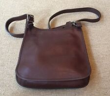 Coach Vintage Brown Heavy Leather Zip Top Medium Bag with Adjustable Straps