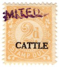 (I.B) Australia - Victoria Revenue : Cattle Duty 2d (small format)