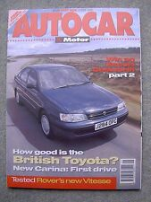 Autocar (20 May 1992) Rover 800 Vitesse, TVR Griffith, Carina, BMW 318iS Coupe