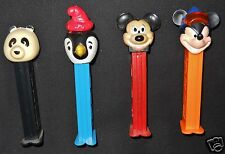 Pez Mickey Mouse Whistle Bird Panda Dispensers Lot 4