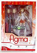 "In STOCK Max Factory Figma ""Asuna"" Sword Art Online SAO Action Figure 178"