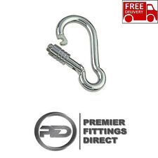 8mm x 80mm CARABINER SPRING SNAP HOOK SELF LOCKING NUT 316 STAINLESS STEEL