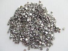 100pz strass ss12 base piatta non hotfix da incollo 3mm colore argento bijoux