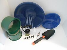International Blue Mini Gold Classifier Screen & Gold Pan Panning Kit