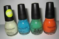 New Lot/4 Sinful Colors Halloween Nail Polish-Glow in the Dark Green Spider/Blue