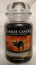 Yankee Candle Happy Halloween Large Jar 22 oz  Black Licorice Scent - New!