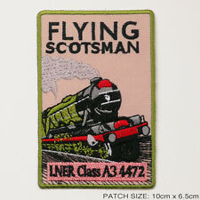 THE FLYING SCOTSMAN - LNER Railway Embroidered Iron-On Train Patch!
