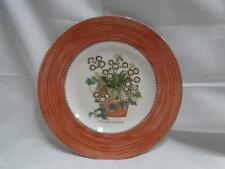 """Wedgwood Sarah's Garden, Terracotta Band, Flower Pot: Salad Plate, 8 1/4"""""""