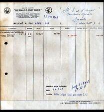 """PARIS (XVII°) MOTEURS """"S.A. MOTEURS BERNARD""""  en 1948"""