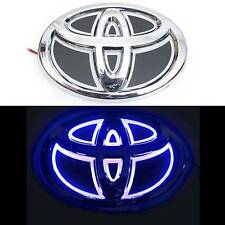 5D Blue Led Car Logo Lights Badge Sticker Auto Bulb Emblem Lamp for TOYOTA