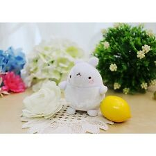 Molang Cute Rabbit Bunny Anti Dust Plush Cellphone Charm : White