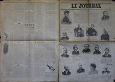 """""""LE JOURNAL Supplément illustré 20/1/1896"""": Portraits Autographes Album MARIANI"""