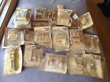 Vintage Wood Doll House Furniture Lot Of 29 Unopened
