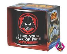 OFFICIAL STAR WARS DARTH VADER LACK OF FAITH DISTURBING RETRO MUG COFFEE CUP NEW