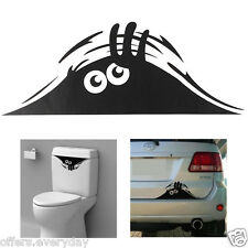 Black cute Monster for Cars Walls Funny Sticker Decal
