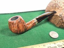 """UNSMOKED FABULOUSLY GRAINED 1/8 BENT STANWELL""""'TRIO""""""""  SILVER RING EXCELLENT"""