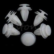 20Pcs Vehicle Car White Plastic 9mm Hole Rivets Fastener Door Fender Bumper Clip