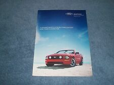 "2005 Ford Mustang GT Convertible Ad ""A Cramped Booth, UV Bulbs, Funny Goggles..."