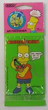 "Medo 1990 SIMPSONS ""UND-ERACHIEVER"" air freshener MINT in package"