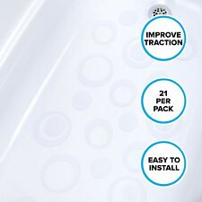 Adhesive Oval Bath Treads (21 Per Pack) in Clear by SlipX Solutions