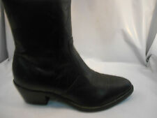 High Noon Black Leather Side Zip Western Ankle Dress Boots Men's Size 7.5 M