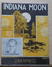 Indiana Moon - 1923 sheet music - Milton Charles photo on cover