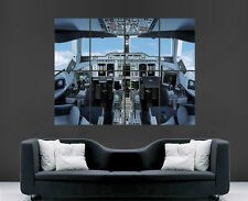 BOEING A380 COCKPIT AEROPLANE JET POSTER SKY FLY LARGE PICTURE POSTER GIANT