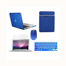 "5 in 1 ROYAL BLUE Crystal Case fr Macbook Pro 13"" A1425 Retina+Key+LCD+BAG+MOUSE"