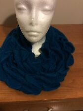 Teal Knit Circle Loop Cowl Infinity Scarf Snood Collar Shawl Scarf New Rp $39