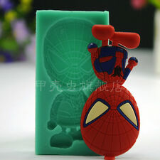 Spiderman silicone Mold cake Fondant Chocolate