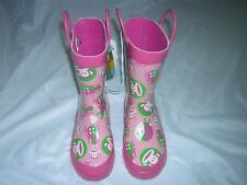 "PAUL FRANK for Target ""Julius & Bugs"" Pink Snow/Rain Boots Kid's Sz 9/10 M NWT"