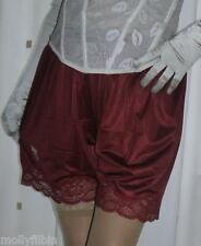 3 pairs of vintage style burgundy silky nylon gusset french knickers panties
